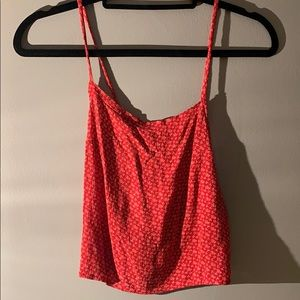 Brandy Melville Red Floral Tank Top